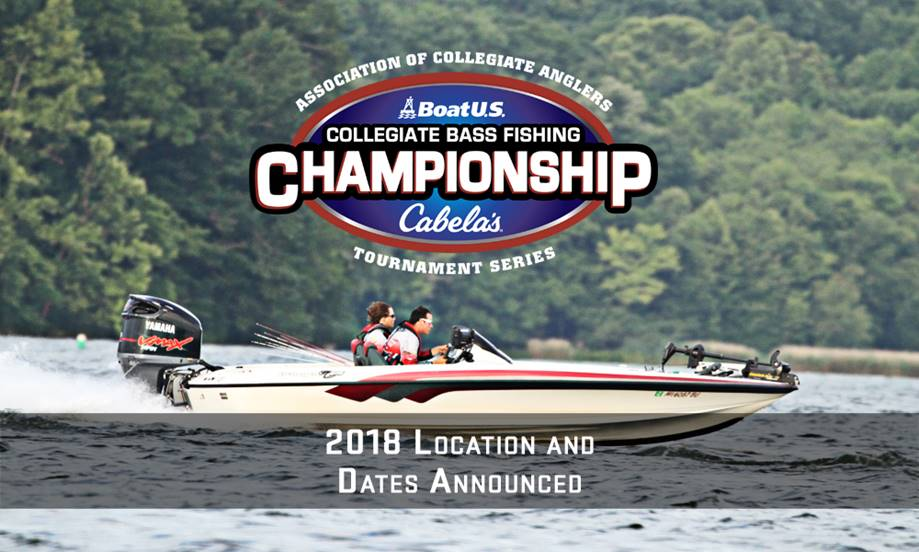 2018 boatus collegiate bass fishing championship location for College bass fishing