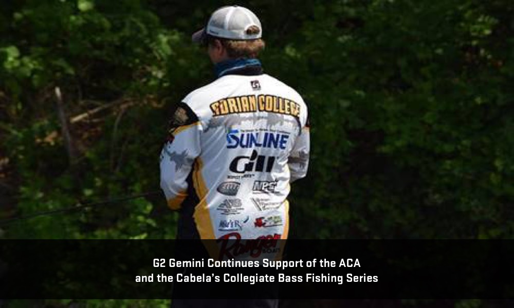 G2 gemini continues support of the aca in 2018 for College bass fishing