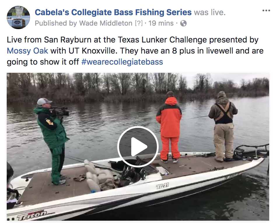 Live blog february 11th tournament day collegiate for Cabelas college fishing